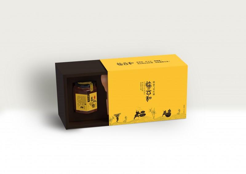 臨云和蜂蜜姜紅糖禮盒裝設計